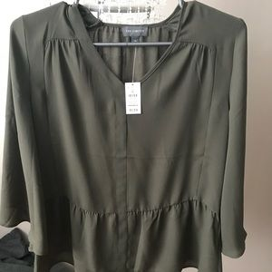 The limited brand new olive green blouse